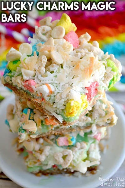 28 Magic Cookie Bars: Lucky Charms Magic Bars