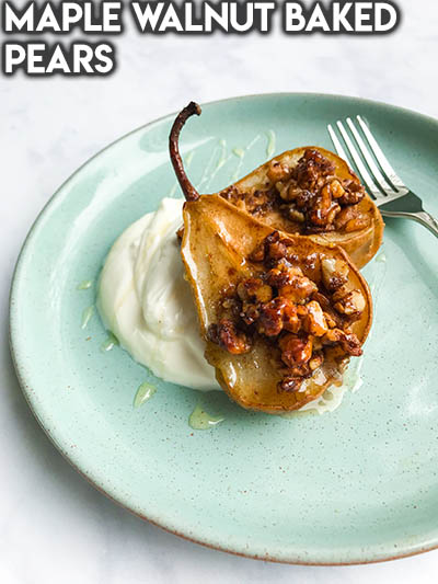 20 Fruit Recipes: Maple Walnut Baked Pears