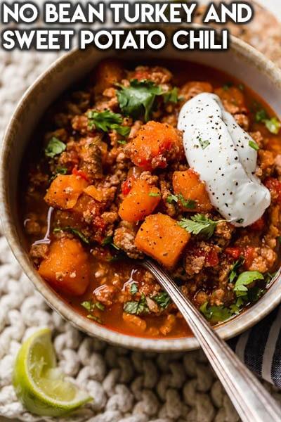 40 Chili Recipes: No Bean Turkey And Sweet Potato Chili