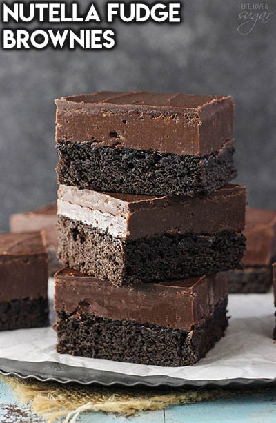 50 Brownie Recipes: Nutella Fudge Brownies