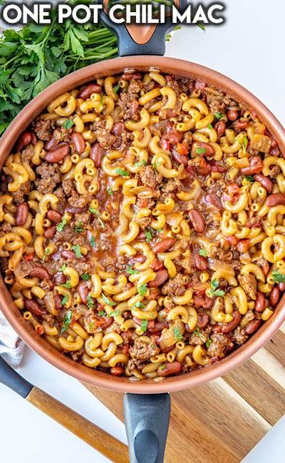 40 Chili Recipes: One Pot Chili Mac