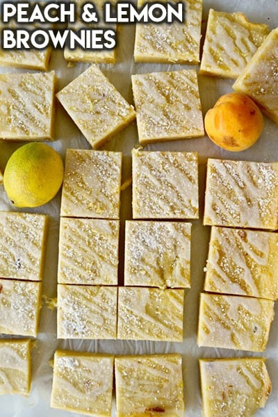 50 Brownie Recipes: Peach & Lemon Brownies