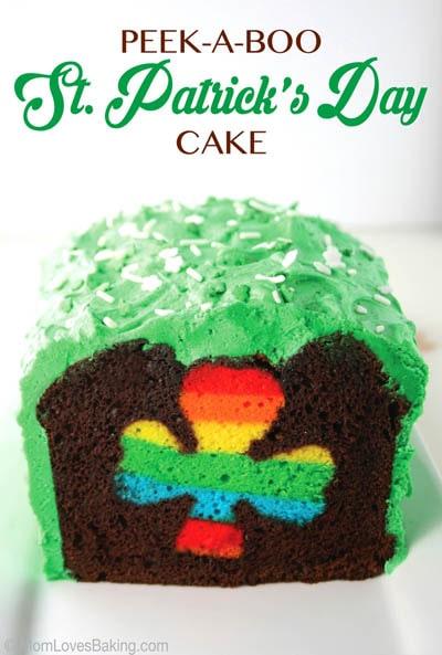 50 St Patrick's Day Desserts: Peek-a-boo St. Patrick's Day Cake