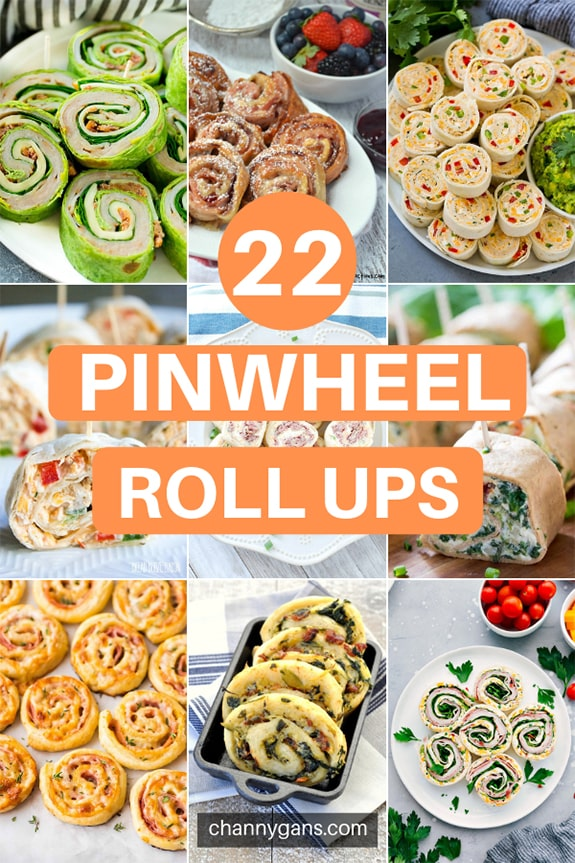 22 Pinwheel Roll Ups. Appetizers and finger foods are great to have on game day or for a party. Try some of these 22 pinwheel roll ups for your next game day party.
