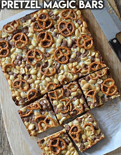 28 Magic Cookie Bars: Pretzel Magic Bars