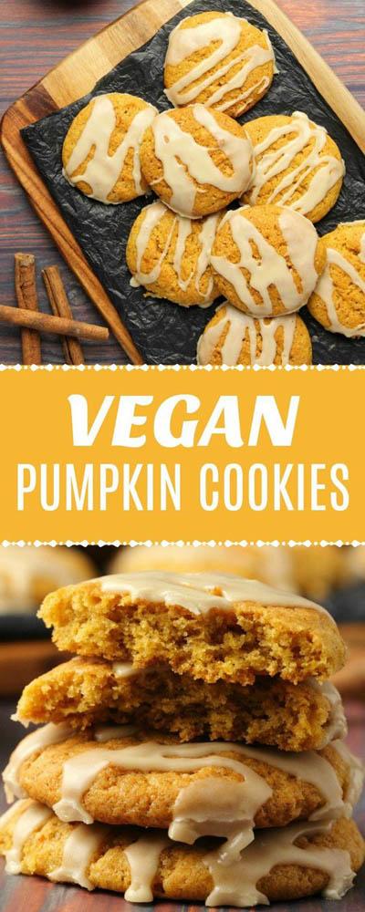 30 Vegan Cookie Recipes: Pumpkin Cookies With Maple Glaze