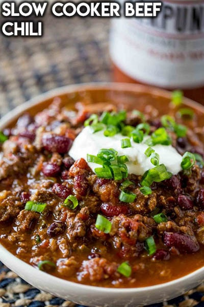 40 Chili Recipes: Slow Cooker Beef Chili