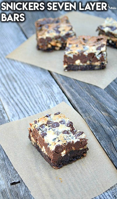 28 Magic Cookie Bars: Snickers Seven Layer Bars