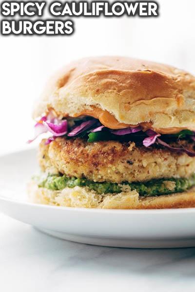 21 Burger Recipes: Spicy Cauliflower Burgers