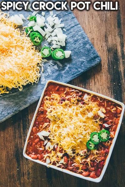 40 Chili Recipes: Spicy Crock Pot Chili