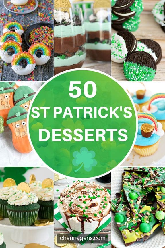 A collection of 50 St Patrick's Day Desserts to inspire you to create something festive and delicious for St. Patrick's Day! Try these St Patrick's Day treats today!