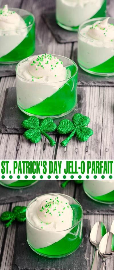 50 St Patrick's Day Desserts: St. Patrick's Day Jell-o Parfait