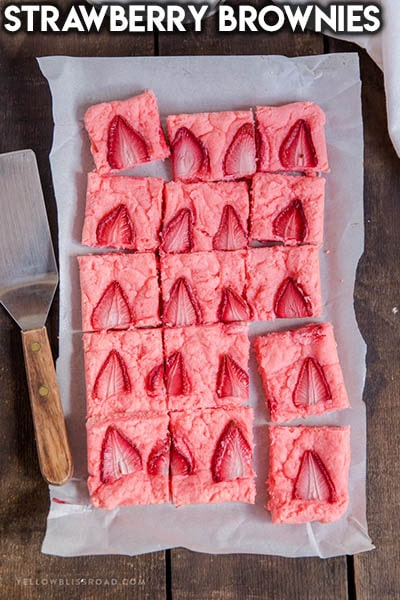 50 Brownie Recipes: Strawberry Brownies
