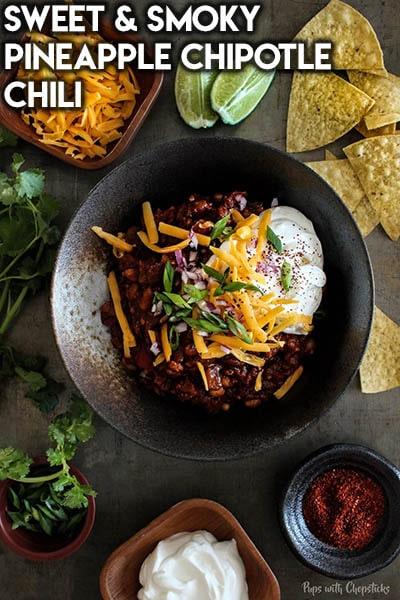 40 Chili Recipes: Sweet & Smoky Pineapple Chipotle Chili