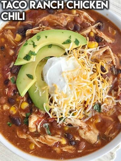 40 Chili Recipes: Taco Ranch Chicken Chili