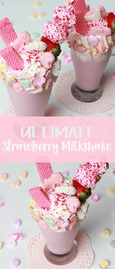 45 Milkshake Recipes: Ultimate Strawberry Milkshake
