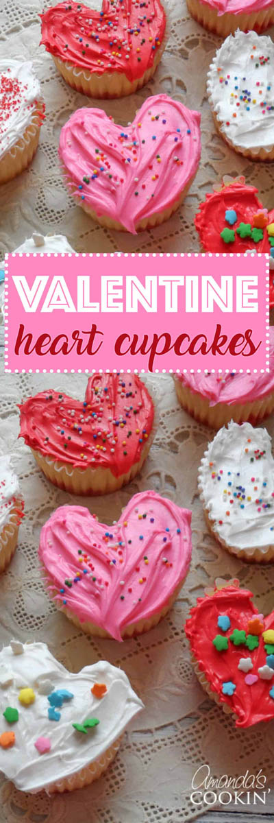 30 Valentines Day Cupcakes: Valentine's Day Heart Cupcakes