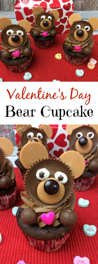 30 Valentines Day Cupcakes: Valentines Day Bear Cupcake Recipe