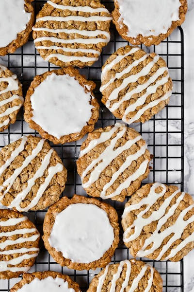30 Vegan Cookie Recipes: Vegan Old-Fashioned Iced Oatmeal Cookies