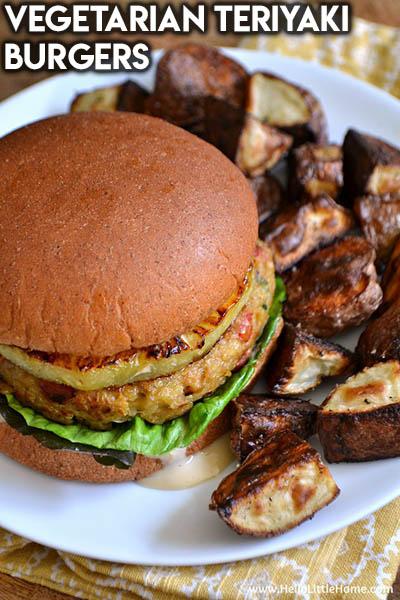21 Burger Recipes: Vegetarian Teriyaki Burgers