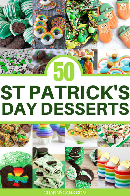 50 St Patrick's Day Desserts to inspire you to create something festive and delicious for St. Patrick's Day! Try these St Patrick's Day treats today!