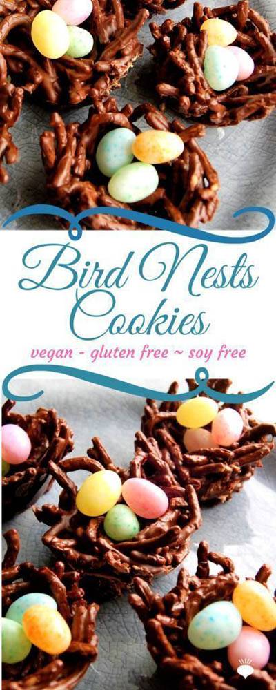 20 Easter Dessert Ideas: Bird Nest Cookies