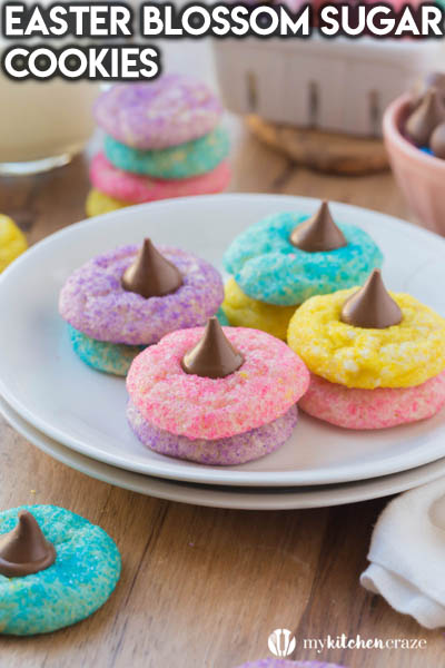 20 Easter Dessert Ideas: Easter Blossom Sugar Cookies