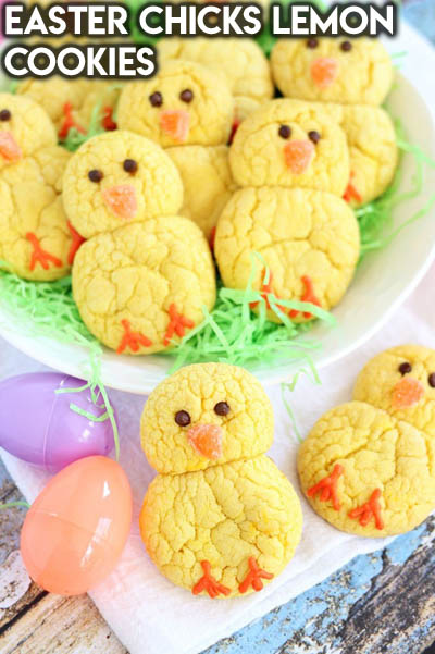 20 Easter Dessert Ideas: Easter Chicks Lemon Cookies