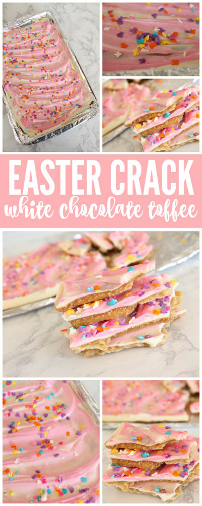 20 Easter Dessert Ideas: Easter Crack White Chocolate Toffee Recipe