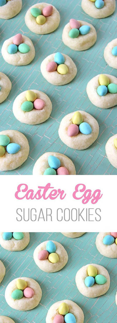 20 Easter Dessert Ideas: Easter Egg Sugar Cookies