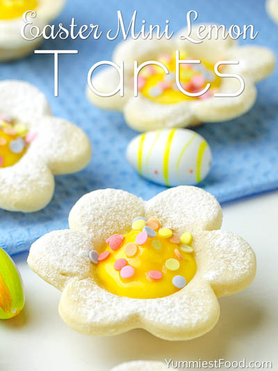 20 Easter Dessert Ideas: Easter Mini Lemon Tarts
