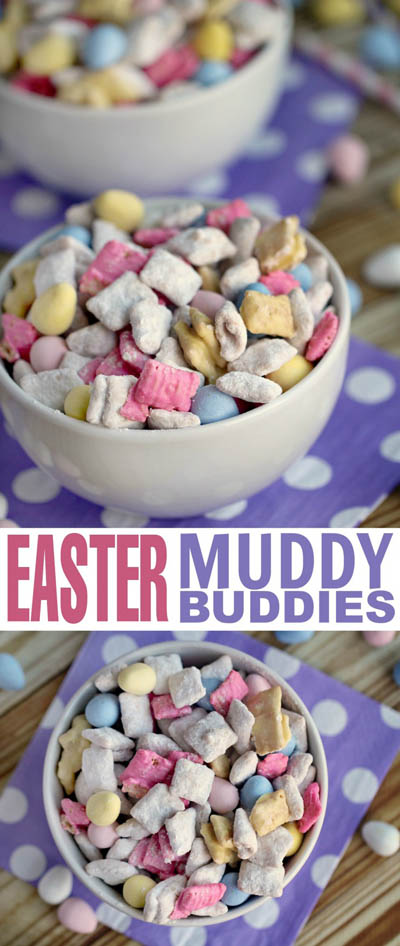 20 Easter Dessert Ideas: Easter Muddy Buddies