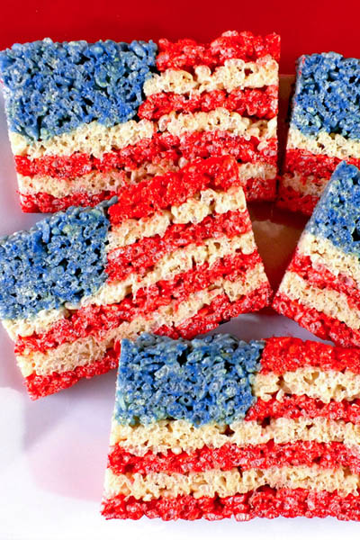 20 Best 4th Of July Dessert Ideas: 4th Of July Rice Krispie Treats