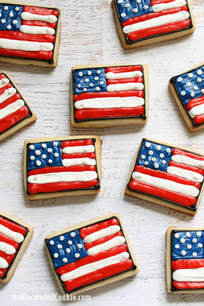 20 Best 4th Of July Dessert Ideas: American Flag Cookies