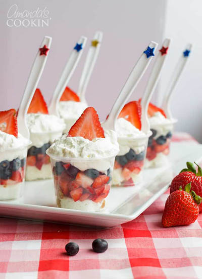 20 Best 4th Of July Dessert Ideas: Mini Shortcake Cups