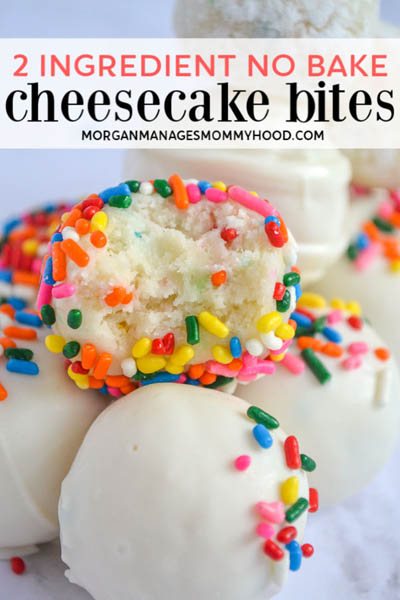 10 Easy 2 Ingredient Desserts: Cake Batter Cheesecake Bites