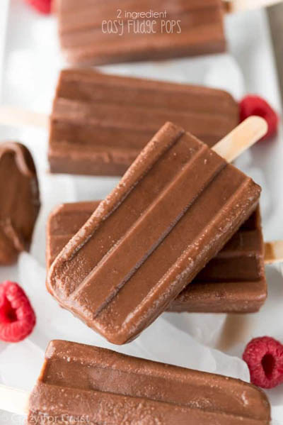 10 Easy 2 Ingredient Desserts: Fudge Pops