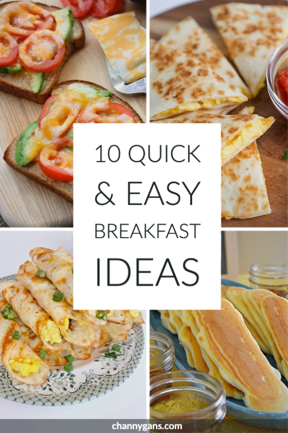 They say breakfast is the most important meal of the day. So skip the cereal and choose one of these easy and quick breakfast ideas!