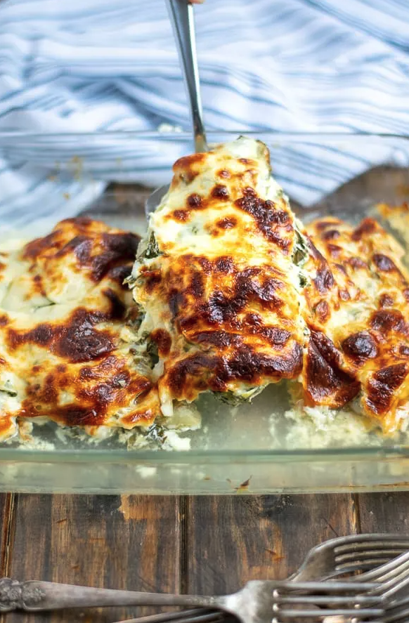 Spinach Artichoke Chicken Bake